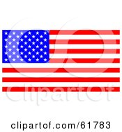 Royalty Free RF Clipart Illustration Of A Bright American Flag With Stars And Stripes