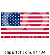 Royalty Free RF Clipart Illustration Of A Dark American Flag With Stars And Stripes by ShazamImages