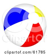 Royalty Free RF Clipart Illustration Of A Bright Colorful Beach Ball Version 3