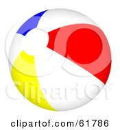 Royalty Free RF Clipart Illustration Of A Bright Colorful Beach Ball Version 2
