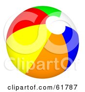 Royalty Free RF Clipart Illustration Of A Bright Colorful Beach Ball Version 5