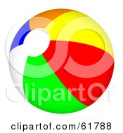Royalty Free RF Clipart Illustration Of A Bright Colorful Beach Ball Version 4