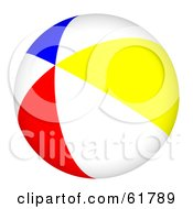 Royalty Free RF Clipart Illustration Of A Bright Colorful Beach Ball Version 1