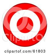 3d Red And White 3 Ring Bullseye Target