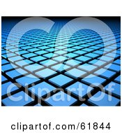 Royalty Free RF Clipart Illustration Of A Background Of 3d Blue Tiles