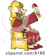 King Sitting On His Throne Clipart Picture by djart