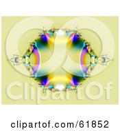 Royalty Free RF Clipart Illustration Of A Fractal Gemstone Or Coat Of Arms Background On Beige