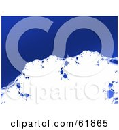 Royalty Free RF Clipart Illustration Of An Abstract Blue And White Snow Capped Mountain Background