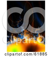 Royalty Free RF Clipart Illustration Of A Solar Storm With Heat Waves And Gasses by ShazamImages