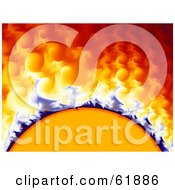 Solar Storm Fractal Background With Curling Gasses And Heat