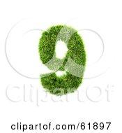 Green 3d Grassy Number 9