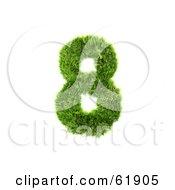 Green 3d Grassy Number 8