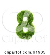 Royalty Free RF Clipart Illustration Of A Green 3d Grassy Number 8 by chrisroll