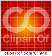Royalty Free RF Clipart Illustration Of A Glowing Orange And Red Grid Background