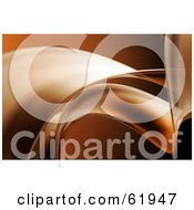 Royalty Free RF Clipart Illustration Of A Background Of Abstract Flowing Brown Waves by chrisroll