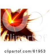 Royalty Free RF Clipart Illustration Of A Red Fractal Burst On White