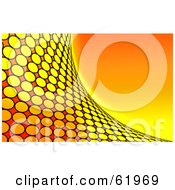 Royalty Free RF Clipart Illustration Of A Curving Orange Circle Tile Wave Background