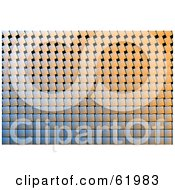 Royalty Free RF Clipart Illustration Of A Textured Tile Background With Slanted Tiles by chrisroll