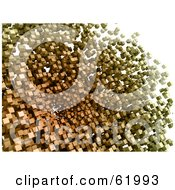 Royalty Free RF Clipart Illustration Of A Background Of Floating 3d Particle Cubes Version 2 by chrisroll
