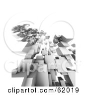 Royalty Free RF Clipart Illustration Of A 3d Render Of A Complex Urban Architectural Design Version 1 by chrisroll