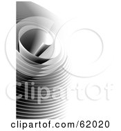 Royalty Free RF Clipart Illustration Of A Curling Paper Whirlpool On White by chrisroll