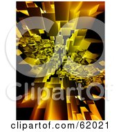 Royalty Free RF Clipart Illustration Of A Background Of Floating 3d Particle Cubes Version 4 by chrisroll