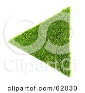 3d Grassy Green Triangle Arrow