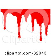 Royalty Free RF Clipart Illustration Of A Background Of Flowing Blood Over White