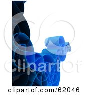 Royalty Free RF Clipart Illustration Of A Curly 3d Network Wave In Blue