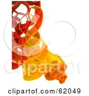 Royalty Free RF Clipart Illustration Of A Curly 3d Network Wave In Red And Orange Version 2