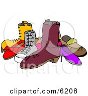 Pile Of Assorted Shoes Clipart Picture by djart