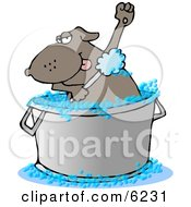 Bathing Dog Clipart Picture by Dennis Cox