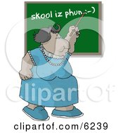 Female English Teacher Teaching A Spelling Lesson In A School Classroom Clipart Picture by djart