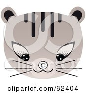 Royalty Free RF Clipart Illustration Of A Cat Looking Down At A Copyright Symbol On Its Nose by Melisende Vector
