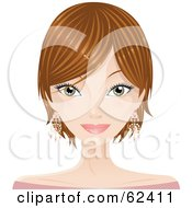 Royalty Free RF Clipart Illustration Of A Pretty Dirty Blond Haired Womans Face