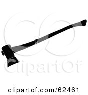 Royalty Free RF Clipart Illustration Of A Black And White Axe Silhouette