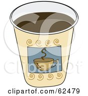 Royalty Free RF Clipart Illustration Of A Paper Coffee Cup Without A Lid