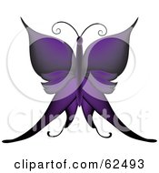 Royalty Free RF Clipart Illustration Of A Beautiful Gradient Purple Butterfly
