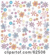 Flower Power Background On White