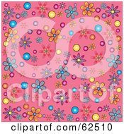 Flower Power Background On Pink