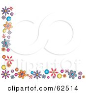 White Background Bordered In Colorful Flowers Version 1