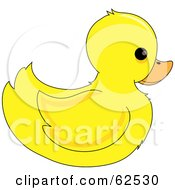 Royalty Free RF Clipart Illustration Of A Cute Yellow Ducky In Profile