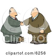 Businessmen Shaking Hands Royalty Free Clipart Illustration