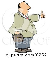 Businessman With Thumbs Up Royalty Free Clipart Illustration