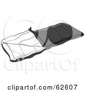 Royalty Free RF Clipart Illustration Of A Gray Camping Sleeping Bag