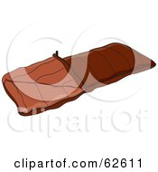 Royalty Free RF Clipart Illustration Of A Brown Camping Sleeping Bag