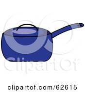 Royalty Free RF Clipart Illustration Of A Blue Covered Kitchen Pot