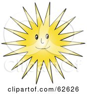 Royalty Free RF Clipart Illustration Of A Smiling Hot Sun Guy by Pams Clipart