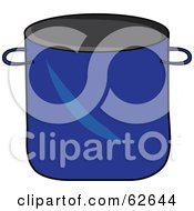 Royalty Free RF Clipart Illustration Of A Blue Kitchen Stock Pot by Pams Clipart