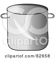 Royalty Free RF Clipart Illustration Of A Silver Kitchen Stock Pot by Pams Clipart